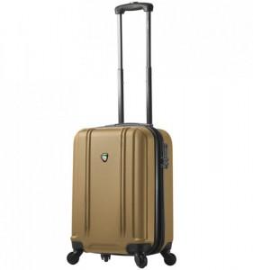 Mia Toro M1210 Baggi S Gold palubní cestovní kufr na 4 kolečkách TSA 55x36x23 cm 35-43 l