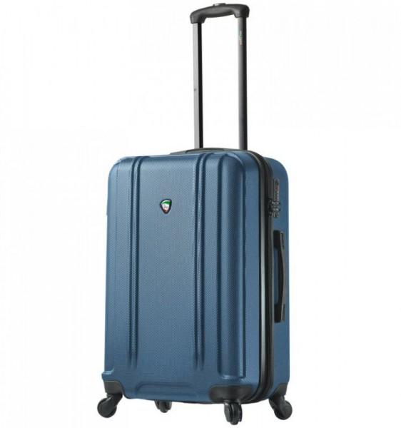 Mia Toro M1210 Baggi M Blue skořepinový cestovní kufr na 4 kolečkách TSA 67 cm 62-77 l