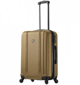 Mia Toro M1210 Baggi M Gold skořepinový cestovní kufr na 4 kolečkách TSA 67 cm 62-77 l