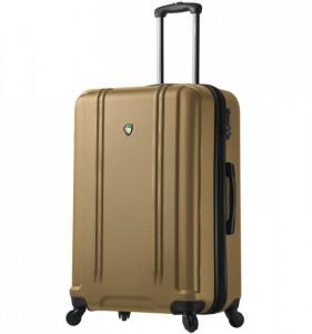 Mia Toro M1210 Baggi L Gold skořepinový cestovní kufr na 4 kolečkách TSA 77 cm 99-123 l