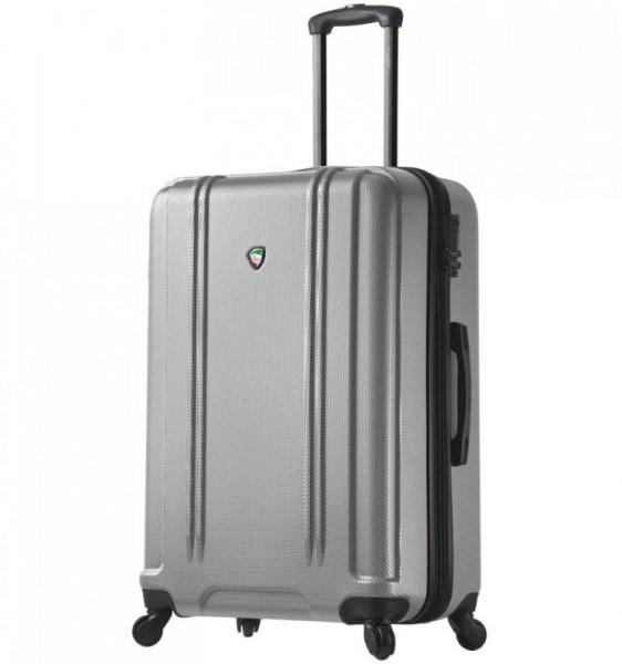Mia Toro M1210 Baggi L Silver skořepinový cestovní kufr na 4 kolečkách TSA 77 cm 99-123 l