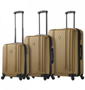 Mia Toro M1210 Baggi S/M/L Gold sada skořepinových cestovních kufrů TSA 55/67/77 cm