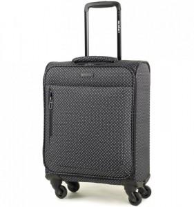 Members Vogue Black and White Paisley S textilní palubní kufr na 4 kolečkách 55x39x20 cm