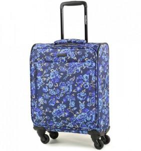 Members Vogue Blue Flower S textilní palubní kufr na 4 kolečkách 55x39x20 cm