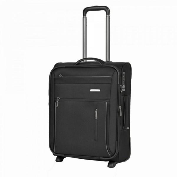 Travelite Capri 2w S Black palubní cestovní kufr na 2 kolečkách TSA 53 cm 41-50 l