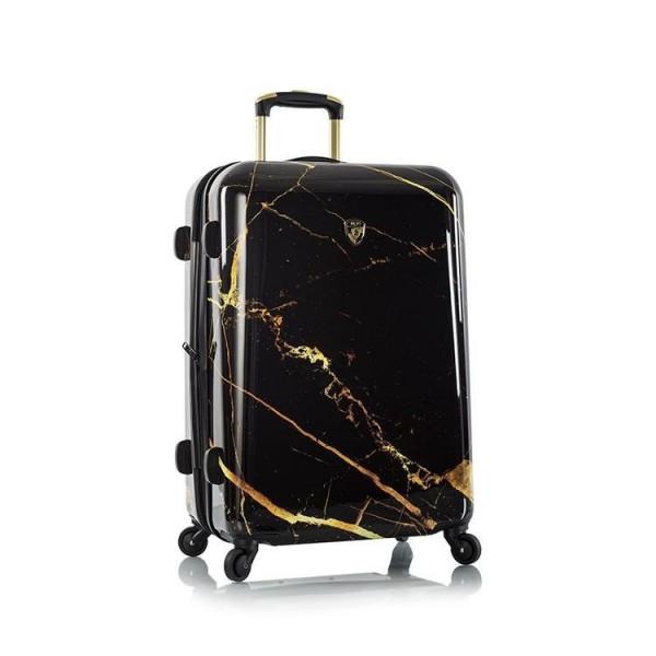 Heys Portoro M Black Marble skořepinový cestovní kufr TSA 66 cm černý mramor