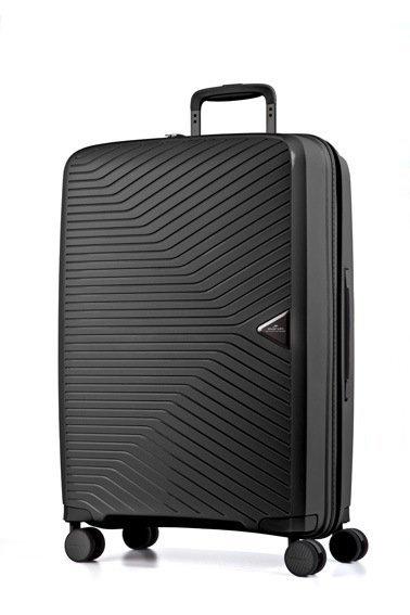 March Gotthard L Black ultralehký cestovní kufr na 4 kolečkách TSA 77 cm 3,4 kg