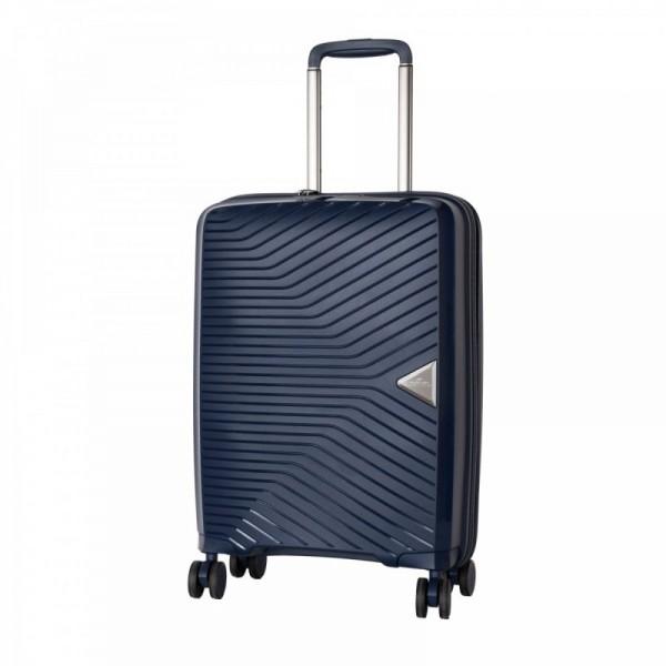 March Gotthard S Dark Blue ultralehký palubní kufr na 4 kolečkách TSA 55x40x20 cm 2,2 kg