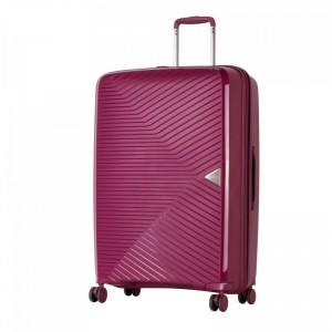 March Gotthard L Wine Red ultralehký cestovní kufr na 4 kolečkách TSA 77 cm 3,4 kg