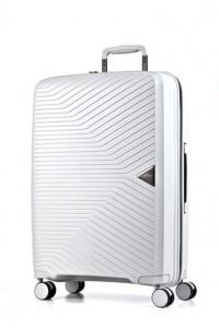 March Gotthard L White ultralehký cestovní kufr na 4 kolečkách TSA 77 cm 3,4 kg