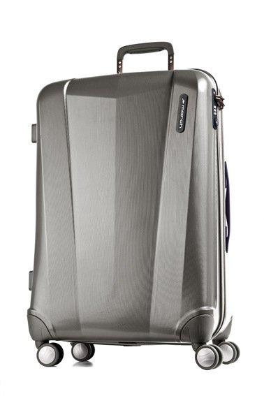 March Vision L Metal Grey polykarbonátový cestovní kufr na 4 kolečkách TSA 77 cm