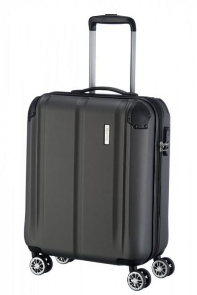 Travelite City 4w S Anthracite palubní cestovní kufr na 4 kolečkách 55 cm