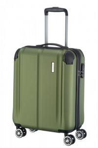 Travelite City 4w S Green palubní cestovní kufr na 4 kolečkách 55 cm