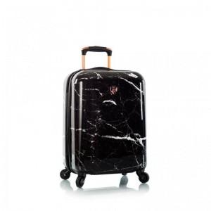 Heys Marquina S Black Marble skořepinový palubní kufr TSA 53 cm černý mramor