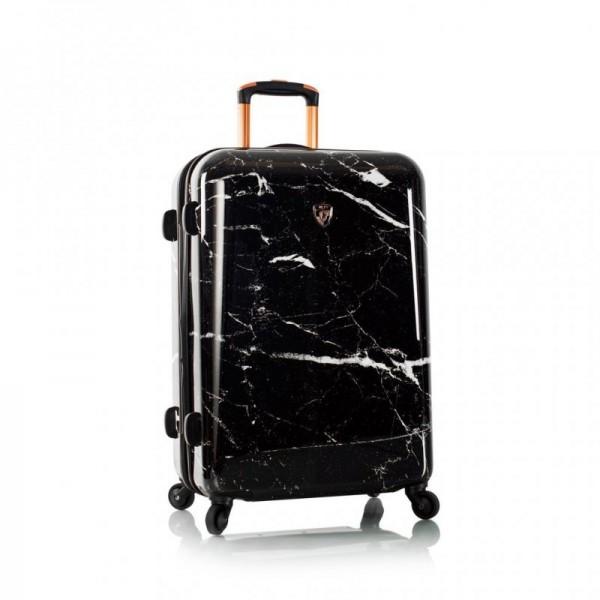 Heys Marquina M Black Marble skořepinový cestovní kufr TSA 66 cm černý mramor