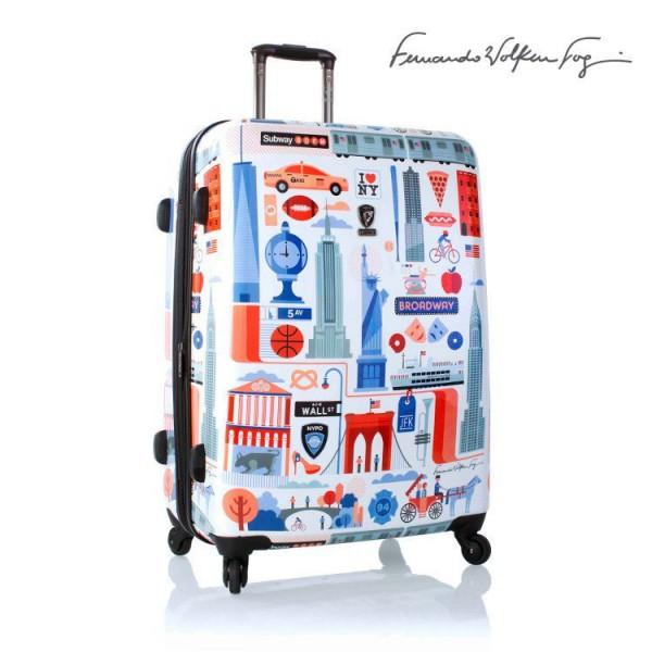 Heys Fernando FVT Cities L New York cestovní kufr na 4 kolečkách TSA 76 cm