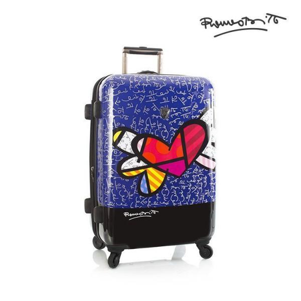 Heys Britto Heart with Wings M designový cestovní kufr na 4 kolečkách TSA 66 cm