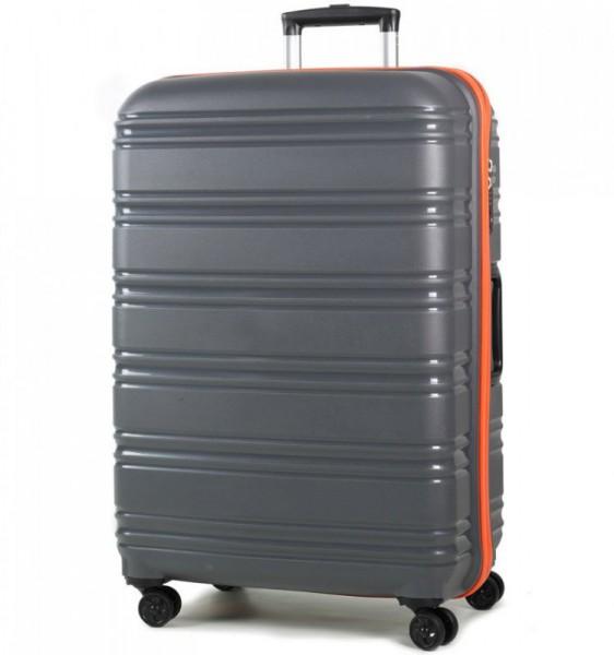 ROCK TR-0164 Impact II L Grey/Orange skořepinový cestovní kufr na 4 kolečkách TSA 76 cm