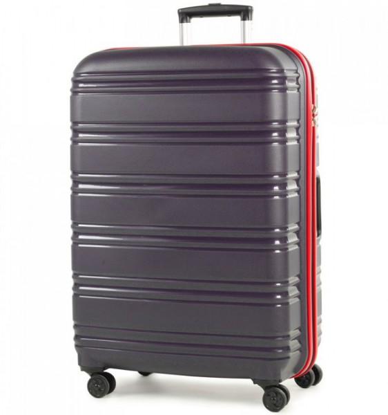 ROCK TR-0164 Impact II L Navy/Red skořepinový cestovní kufr na 4 kolečkách TSA 76 cm