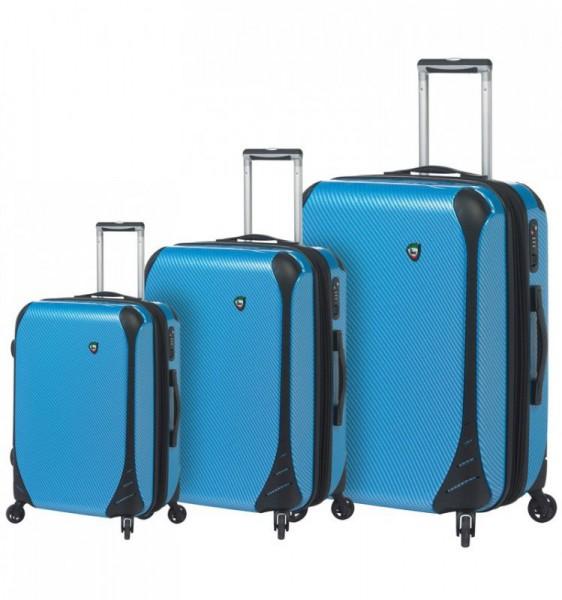 Mia Toro M1021 Fibre di Carbonio Largo S/M/L Blue sada 3 kufrů TSA 56/66/76 cm
