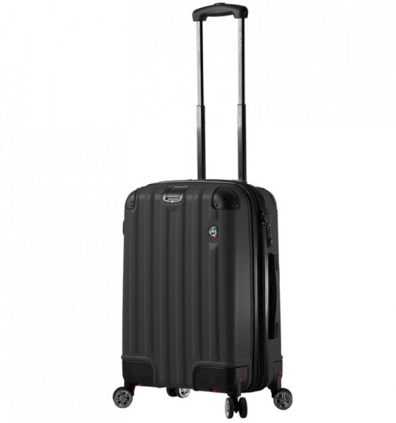 Mia Toro M1300 Ruota S Black palubní kufr se sklápěcími kolečky TSA 55 cm 43-54 l