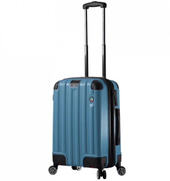 Mia Toro M1300 Ruota S Blue palubní kufr se sklápěcími kolečky TSA 55 cm 43-54 l