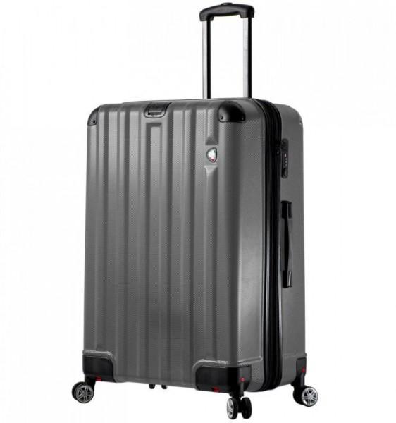 Mia Toro M1300 Ruota L Charcoal cestovní kufr se sklápěcími kolečky TSA 80 cm 117-146 l