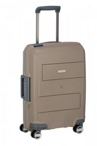 Travelite Makro 4w S Taupe palubní cestovní kufr na 4 kolečkách TSA 55 cm