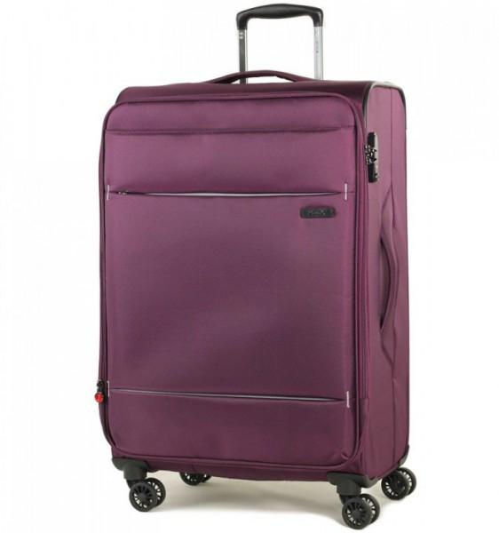ROCK TR-0161 DeLuxe-Lite M Purple ultralehký cestovní kufr na 4 kolečkách TSA 72 cm 2,6 kg