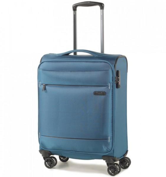 ROCK TR-0161 DeLuxe-Lite S Teal ultralehký palubní cestovní kufr TSA 55x38x20 cm 1,8 kg