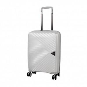 March Gotthard S Silver ultralehký palubní kufr na 4 kolečkách TSA 55x40x20 cm 2,2 kg