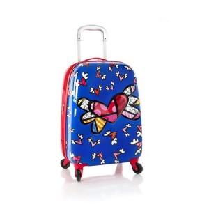Heys Britto Tween Spinner 3D Flying Hearts dětský cestovní kufr na 4 kolečkách 51 cm