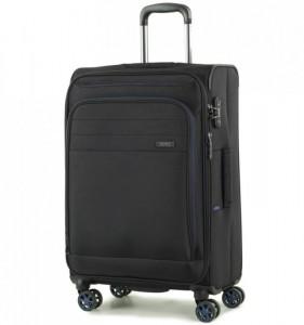 ROCK Apollo TR-0162-M rozšířitelný cestovní kufr na 4 kolečkách TSA 67 cm černý