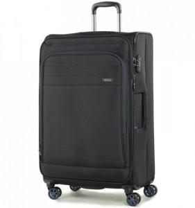 ROCK Apollo TR-0162-L rozšířitelný cestovní kufr na 4 kolečkách TSA 79 cm černý