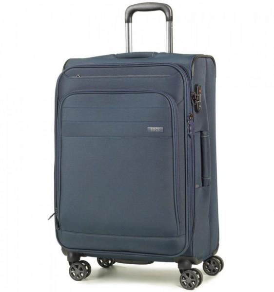 ROCK Apollo TR-0162-M rozšířitelný cestovní kufr na 4 kolečkách TSA 67 cm tmavě modrý