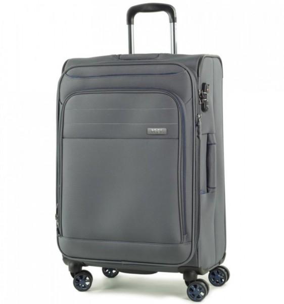 ROCK Apollo TR-0162-M rozšířitelný cestovní kufr na 4 kolečkách TSA 67 cm šedý