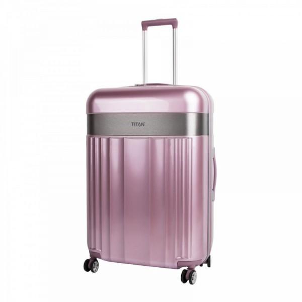 Titan Spotlight Flash 4w L Wild Rose skořepinový cestovní kufr na 4 kolečkách TSA 76 cm