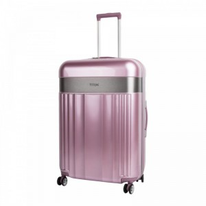 Titan Spotlight Flash 4w M Wild Rose skořepinový cestovní kufr na 4 kolečkách TSA 67 cm