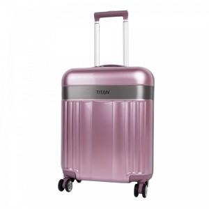 Titan Spotlight Flash 4w S Wild Rose skořepinový palubní kufr na 4 kolečkách TSA 55x40x20 cm