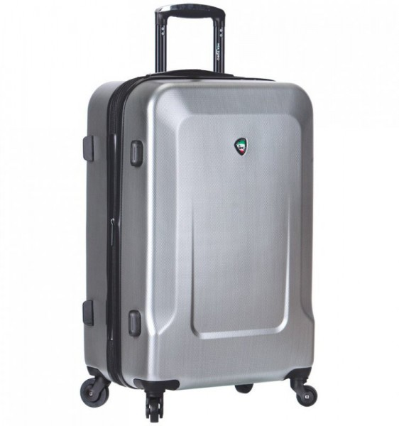 Mia Toro M1535 Ingria XL Silver cestovní kufr na 4 kolečkách TSA 84 cm 125-156 l
