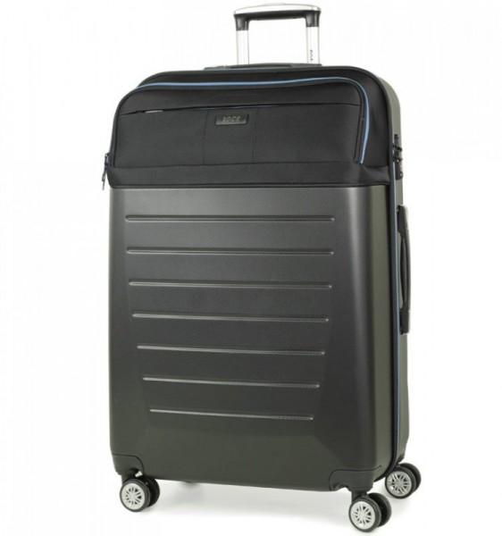 ROCK TR-0166 Hybrid L Black ABS/PES cestovní kufr na 4 kolečkách TSA 77 cm
