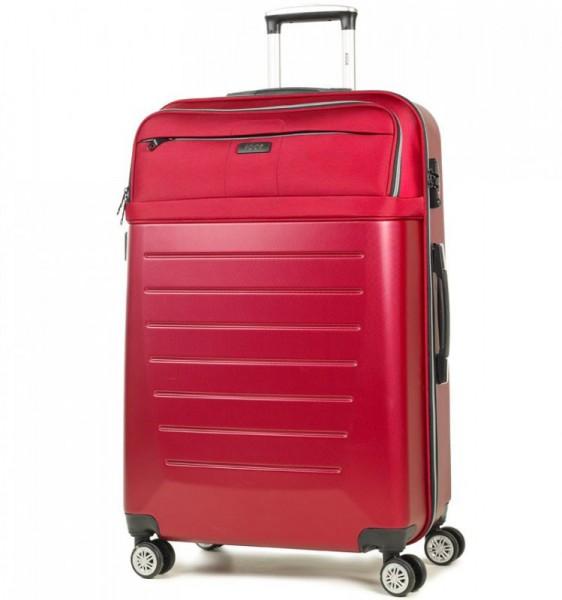 ROCK TR-0166 Hybrid L Red ABS/PES cestovní kufr na 4 kolečkách TSA 77 cm