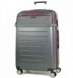 ROCK TR-0166 Hybrid L Charcoal ABS/PES cestovní kufr na 4 kolečkách TSA 77 cm