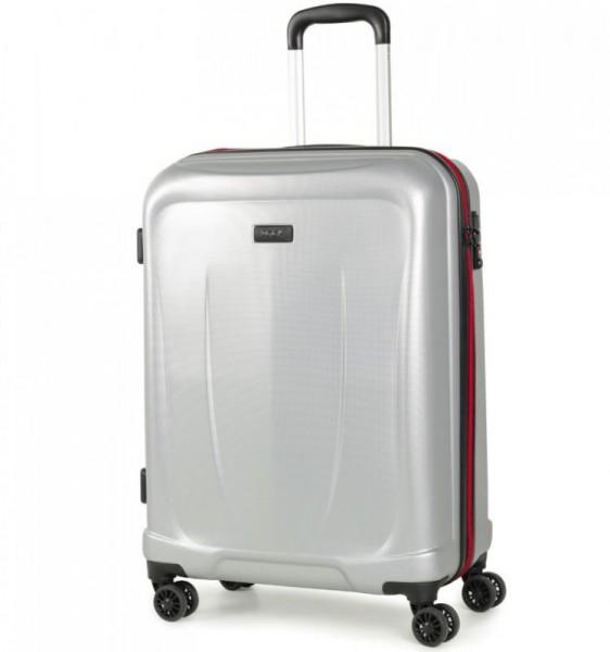 ROCK TR-0165 Delta S Silver ABS palubní cestovní kufr TSA 55x39x21 cm 36-43 l
