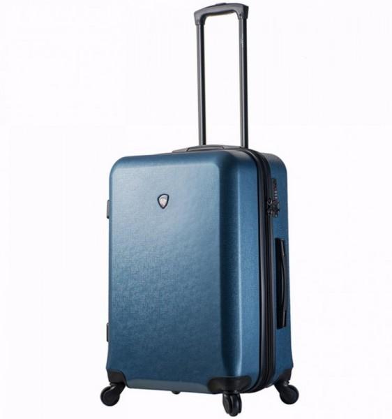 Mia Toro M1219 Sacco M Blue skořepinový cestovní kufr na 4 kolečkách TSA 67 cm 63-79 l