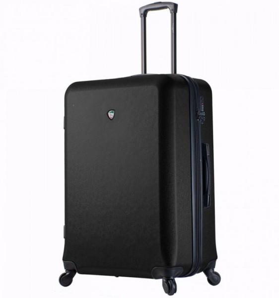 Mia Toro M1219 Sacco L Black skořepinový cestovní kufr na 4 kolečkách TSA 77 cm 99-124 l