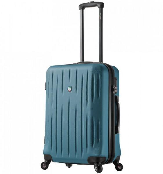 Mia Toro M1212 Fabbri L Teal cestovní kufr na 4 kolečkách TSA 72 cm 80-100 l