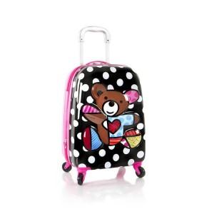 Heys Britto Tween Spinner 3D Teddy Bear dětský cestovní kufr na 4 kolečkách 51 cm