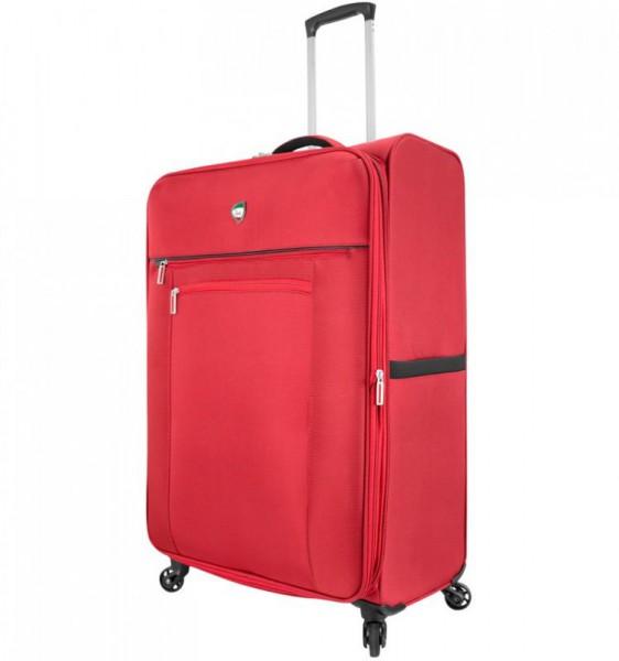 Mia Toro M1131 Liguria L Orange textilní cestovní kufr na 4 kolečkách 78 cm 89-111 l