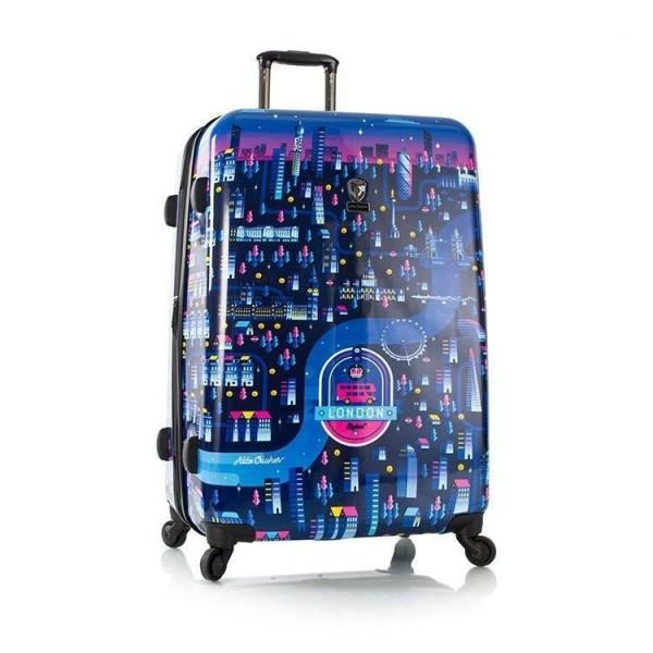 Heys Aldo Crusher Twilight L designový cestovní kufr na 4 kolečkách TSA 76 cm